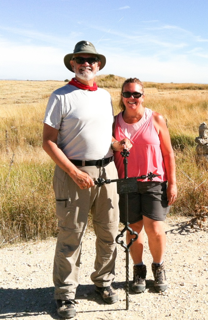 """Alan and Tracy with Iron Cross atop """"Liar's Hill"""""""