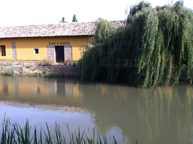 Warehouse along the Canal de Castilla near Fromista
