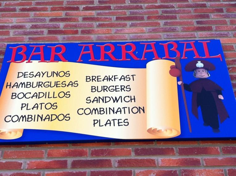Café/bar where we had dinner, American-style hotdogs!