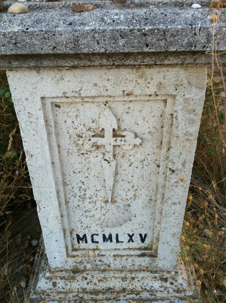 Camino marker from 1965