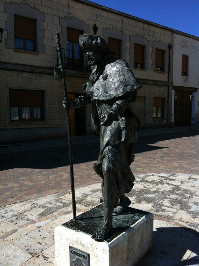 Pilgrim statue in Carrion de los Condes
