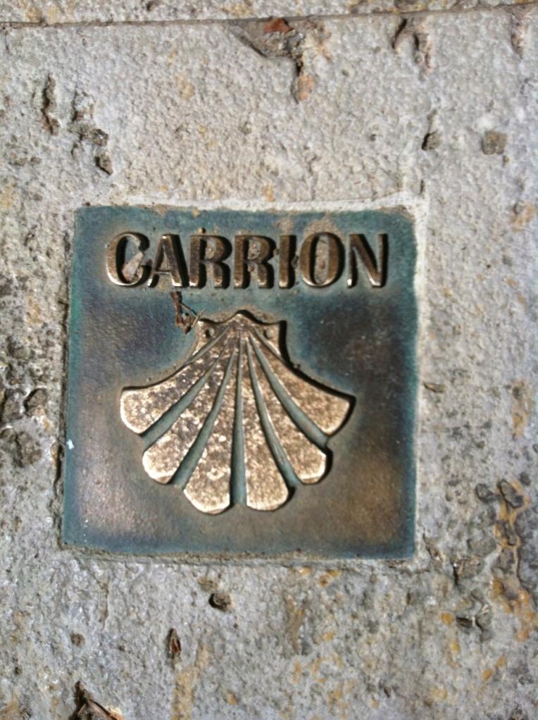 Camino markers, Carrion de los Condes