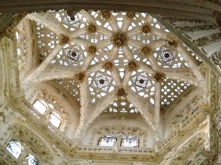 One of several stunning domes/lanterns of the 13th century, gothic Cathedral de Santa Maria, Burgos
