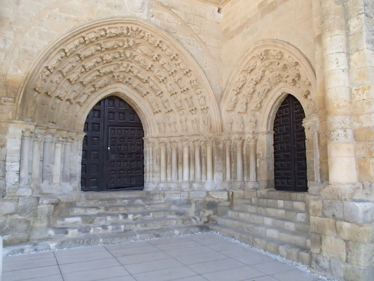 Portico of Santa María la Virgen Blanca, 12th century, built by the Knights Templar, Villalsirga