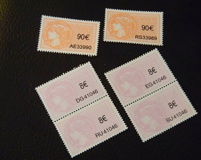 Tax Stamps (timbres fiscaux)