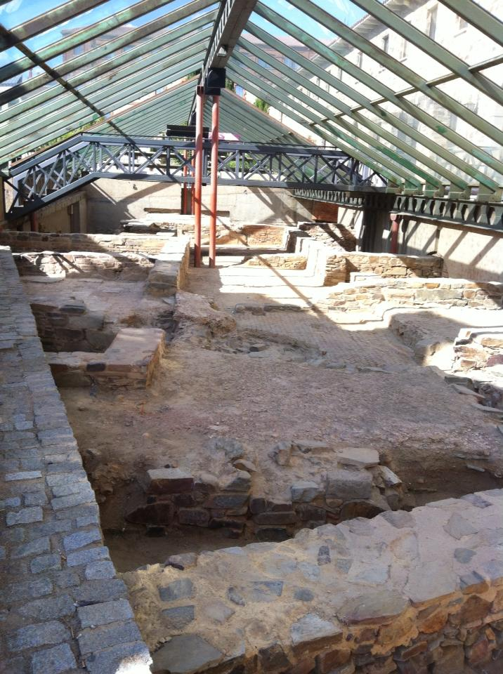 Foundations of the original Roman church, Plaza San Francisco, Astorga