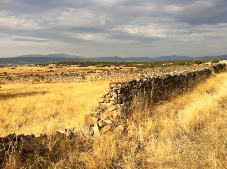 Crumbled wall outside of Astorga
