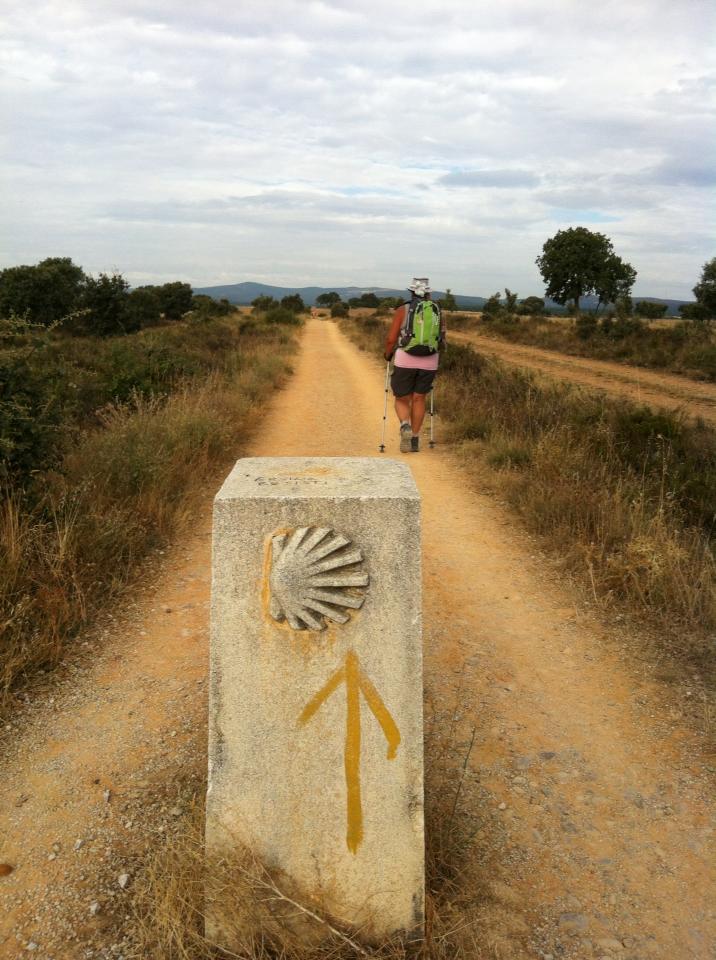 Camino marker outside of Astorga