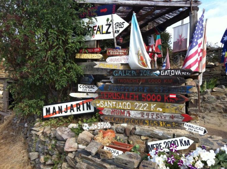Signposts at Manjarin, a creepy place indeed