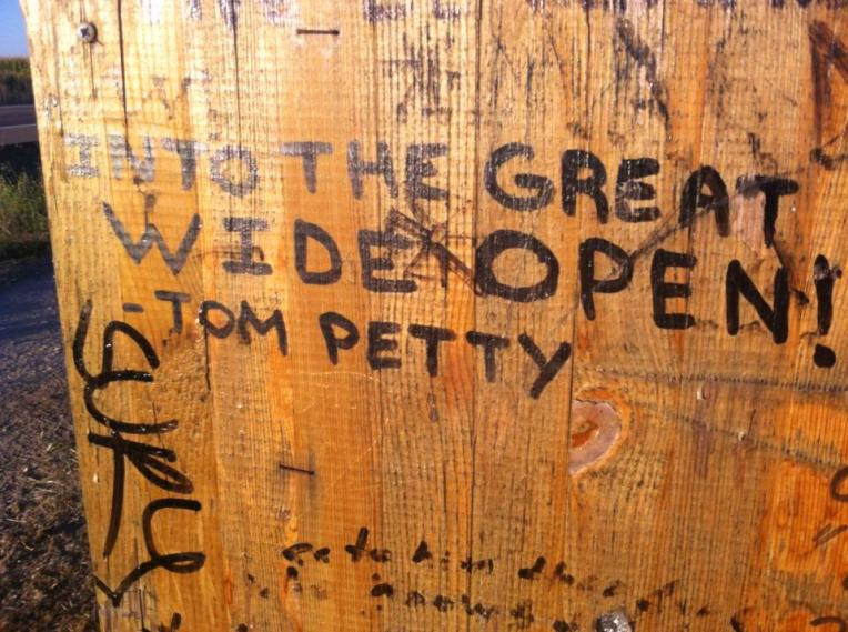 Tom Petty is popular among Camino graffiti artists
