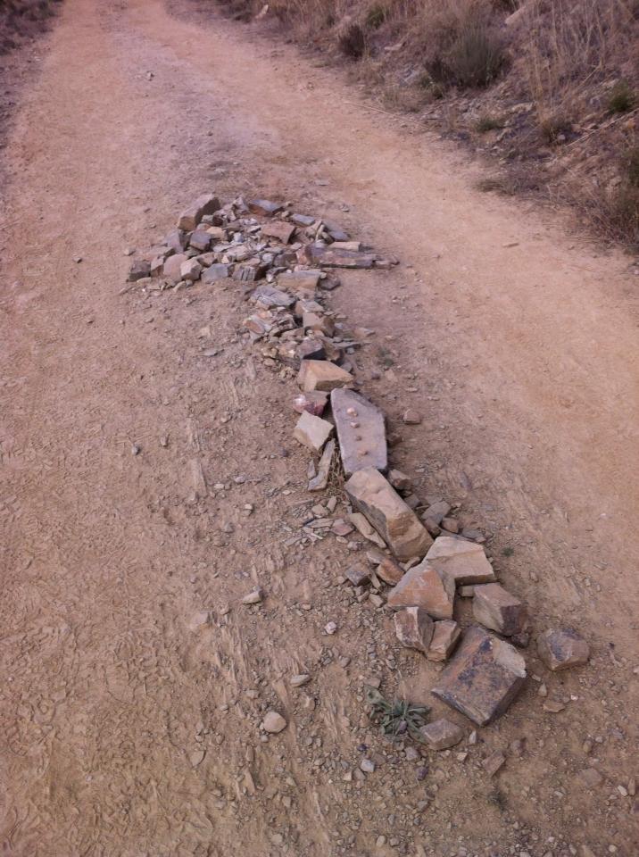Camino art, trail outside of Santa Catalina de Somoza