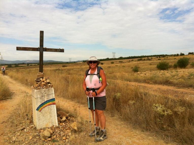 Camino marker outside El Ganso
