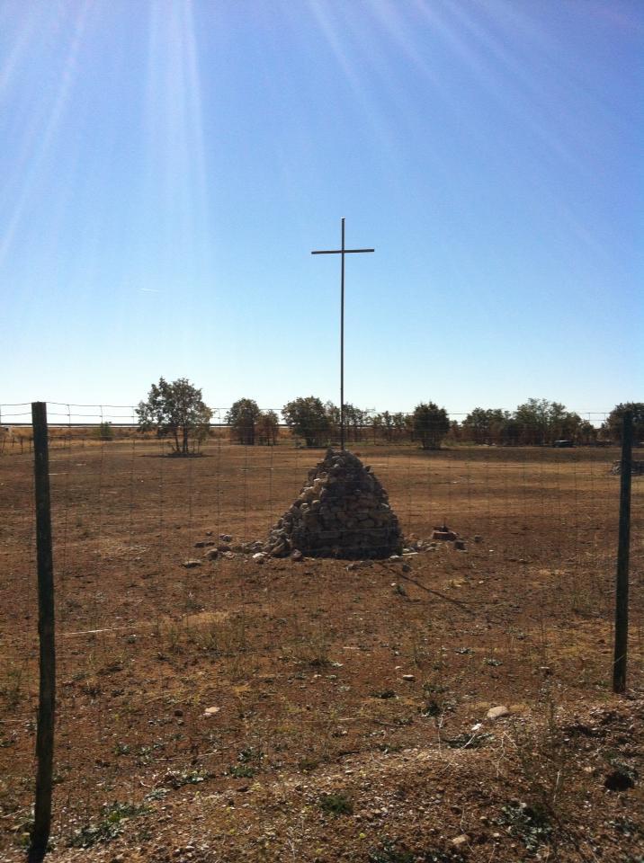Pilgrim monument outside of San Miguel
