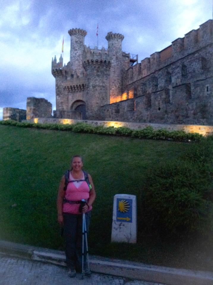 Tracy at Castillo de los Templarios (Templar castle), Ponferrada