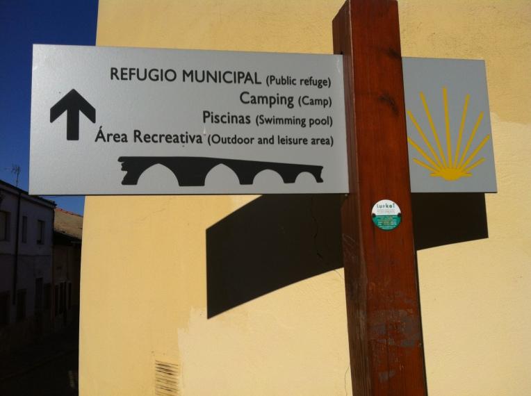 Camino marker, Hospital de Orbigo
