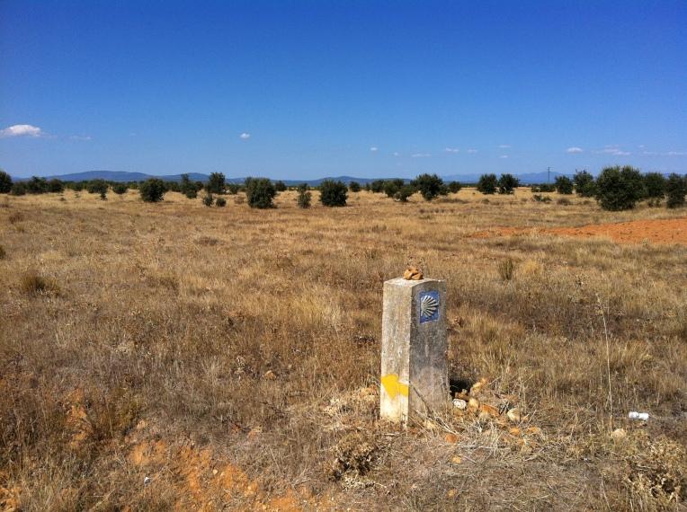 Camino marker near Astorga