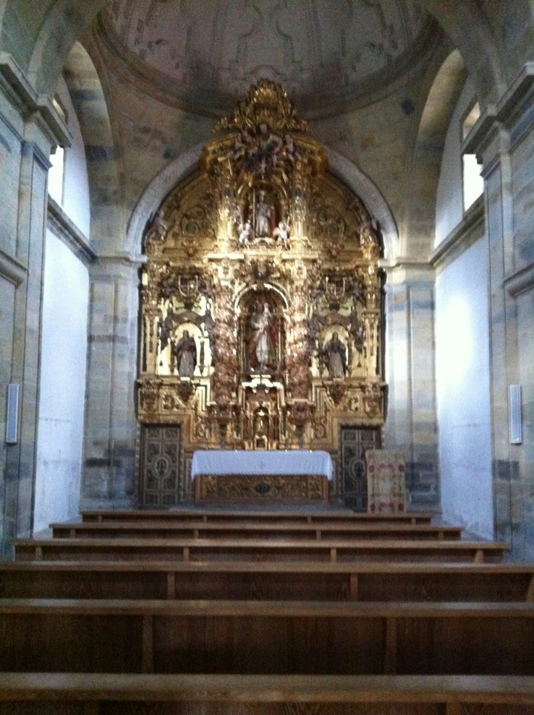 Interior of the church in El Ganso
