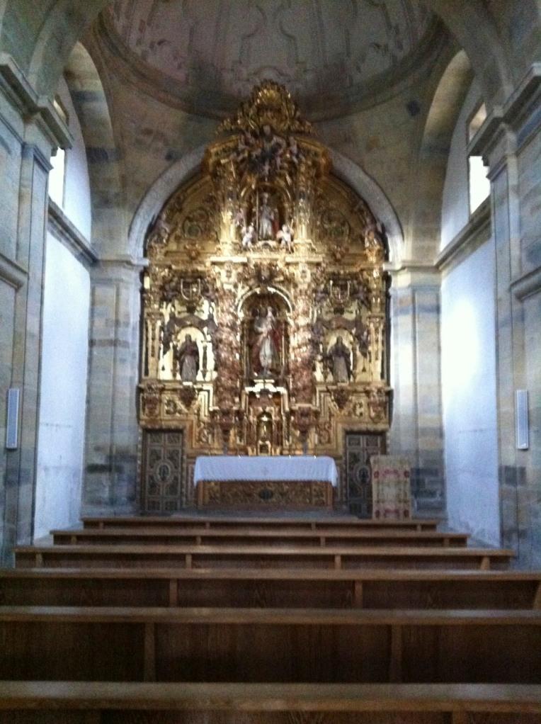 Interior of the church in El Ganso