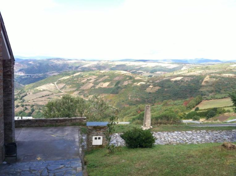 View of the valley from our albergue in O'Cebreiro
