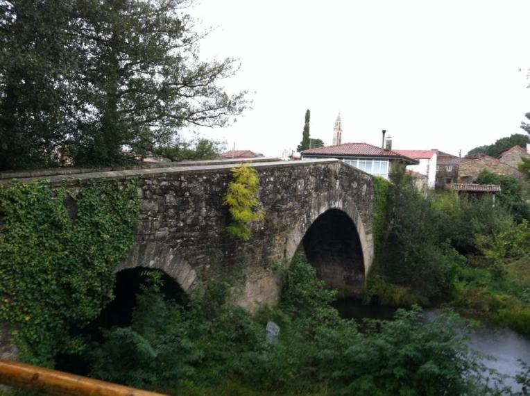 Medieval bridge in Furelos, Ponte Velha
