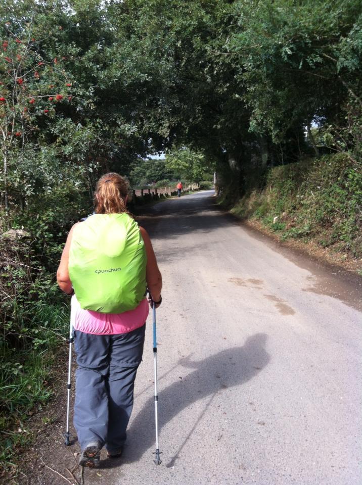 Tracy on trail near Toxibo