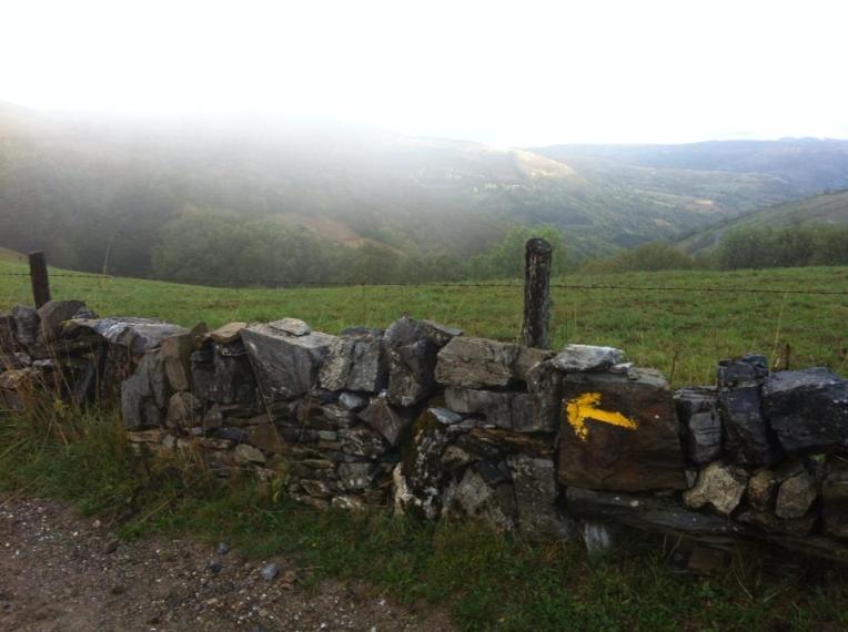 Rock wall near Triacastela
