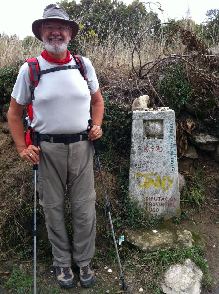 Alan at the 99 kilometer marker