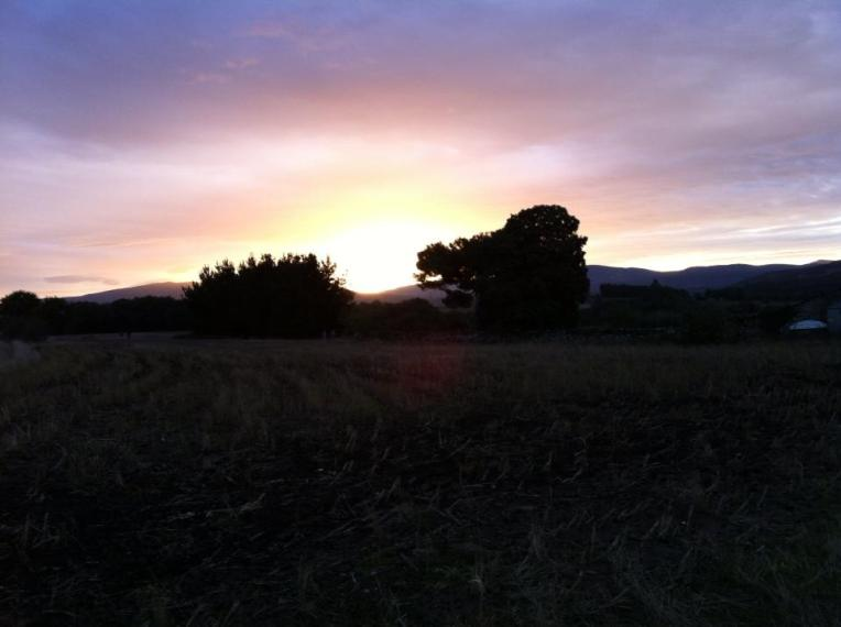 Sunrise near Sarria
