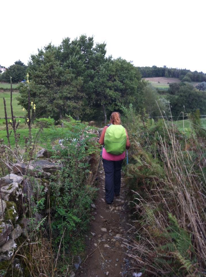 Tracy on trail near Eixere