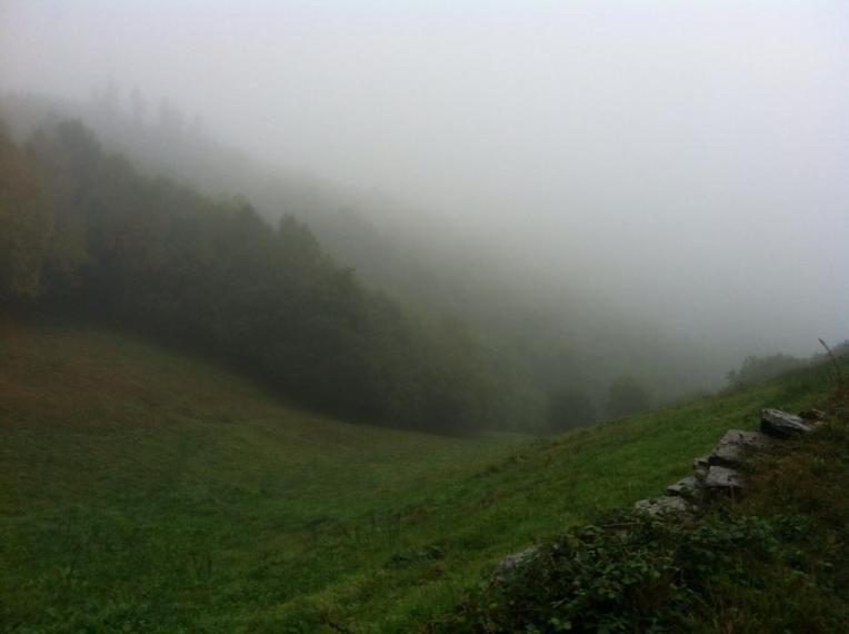 Early morning fog near Alto do Riocabo