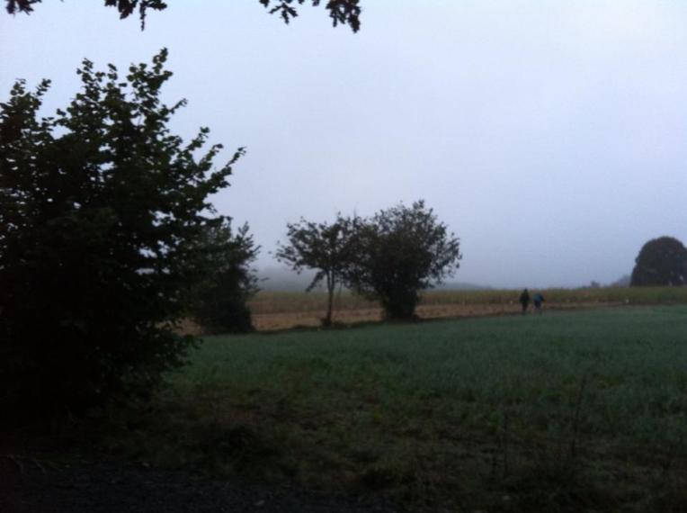 Light morning mist, last day of hiking