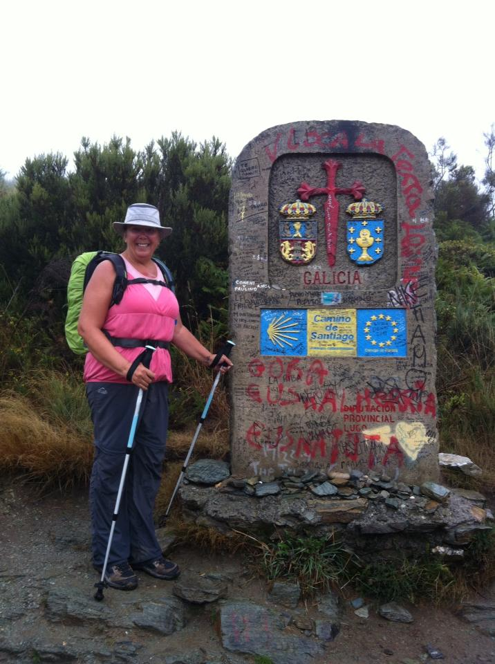 Tracy with the Galicia Province marker
