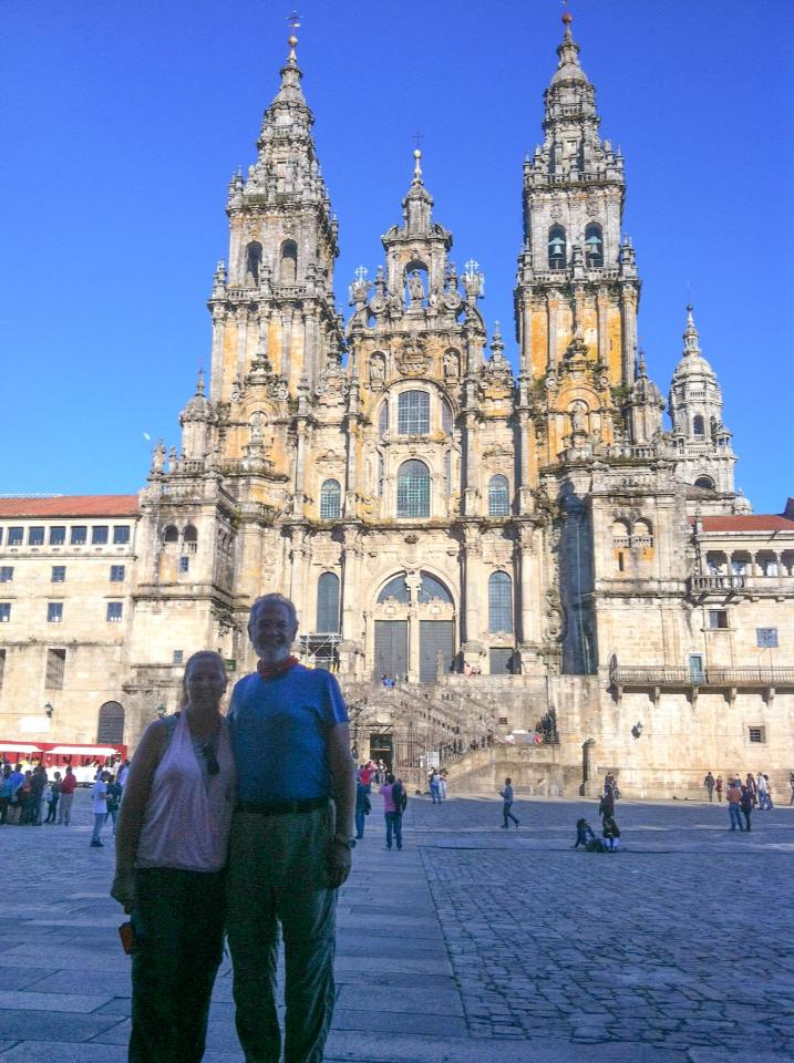 Cathedral in Santiago – we made it!