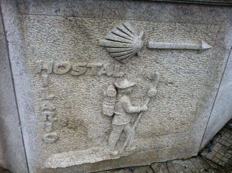 Way marker in Portomarin