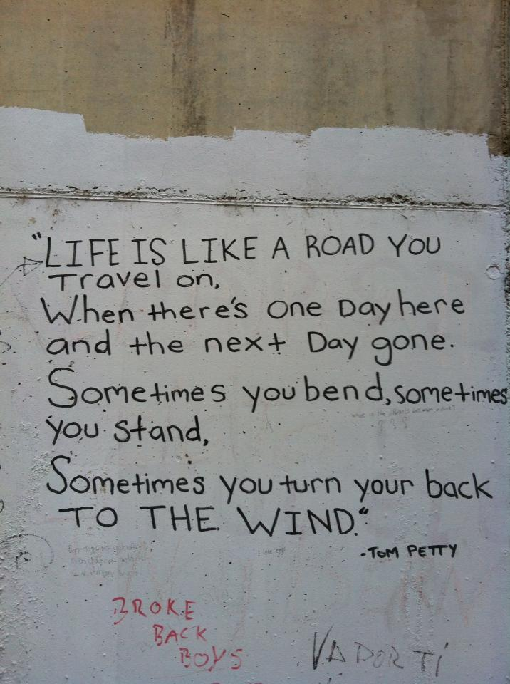 More Tom Petty graffiti, he seems to be a favorite of pilgrims on the Camino