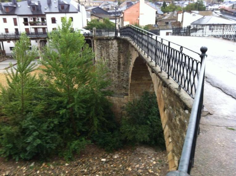 Medieval bridge in Villafranca del Bierzo