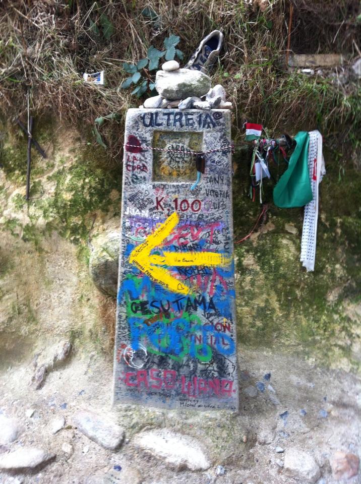 100 kilometer marker outside Sarria