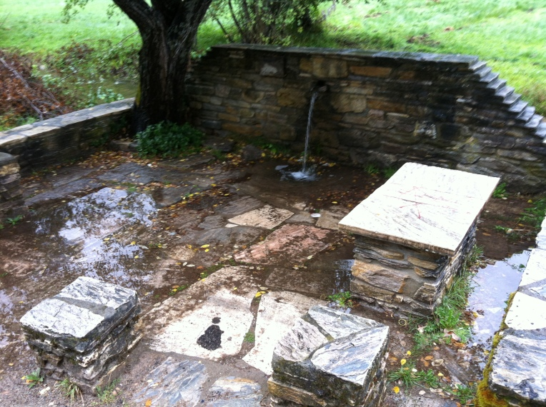 Pilgrim font and picnic area near Herrerias