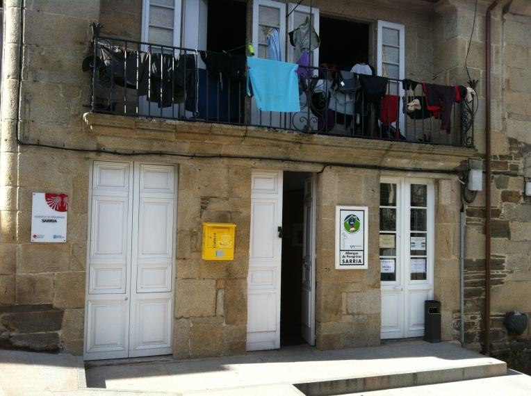 The municipal albergue in Sarria