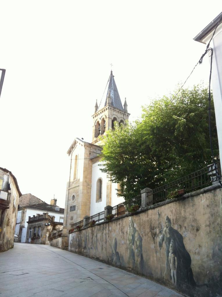 Pilgrim mural in Sarria