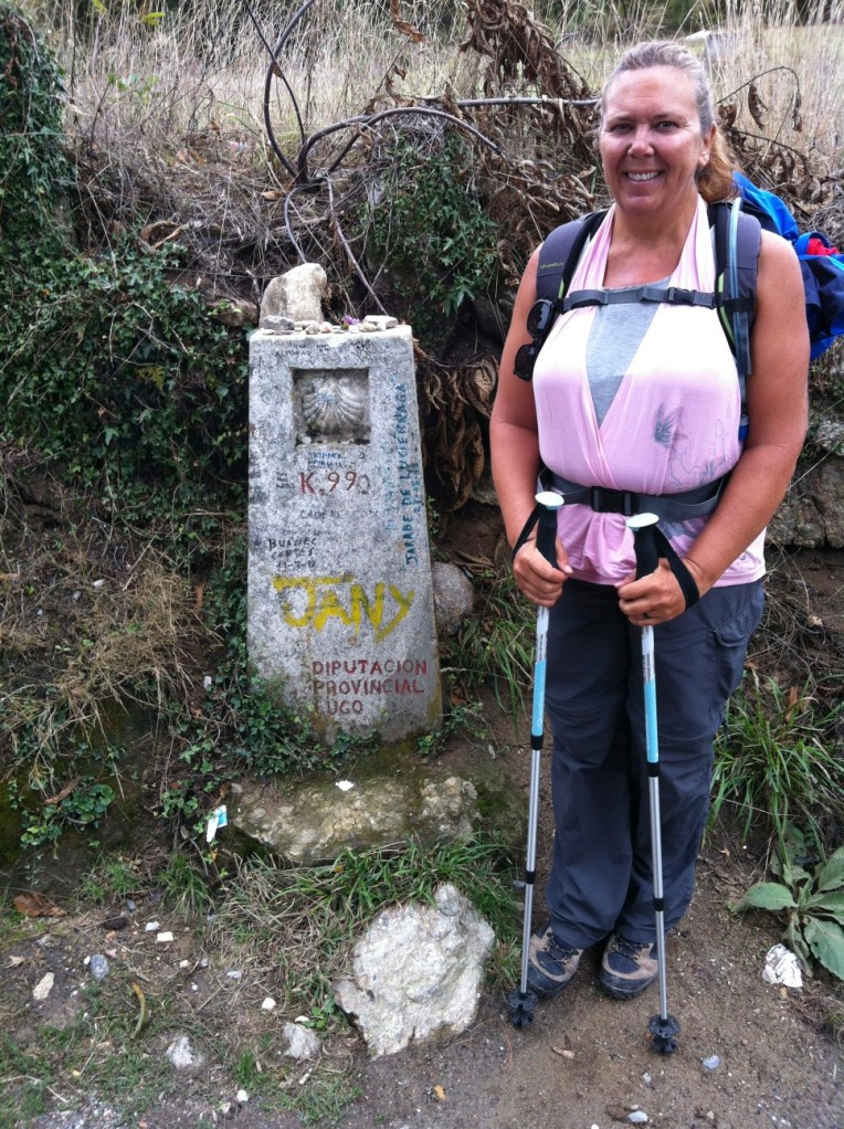 Tracy at the 99 kilometer marker