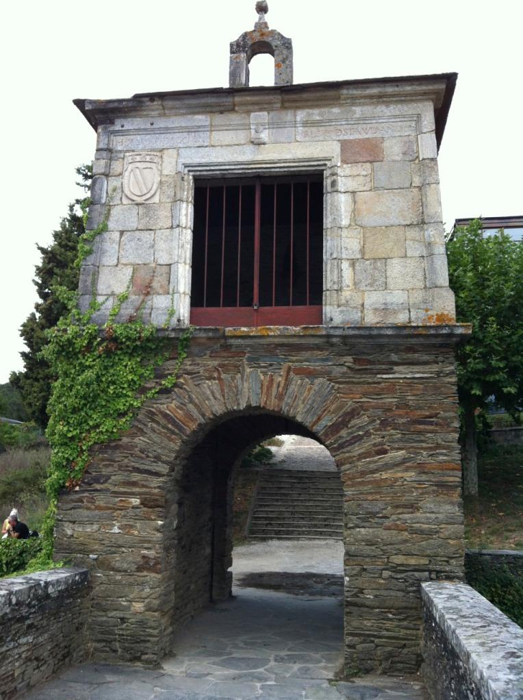 Ancient archway into Portomarin
