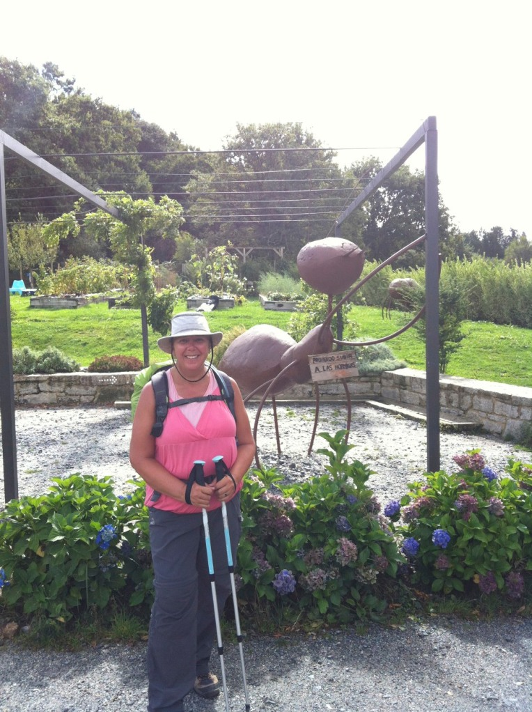 Tracy at the Ant Sculpture near Fonfria