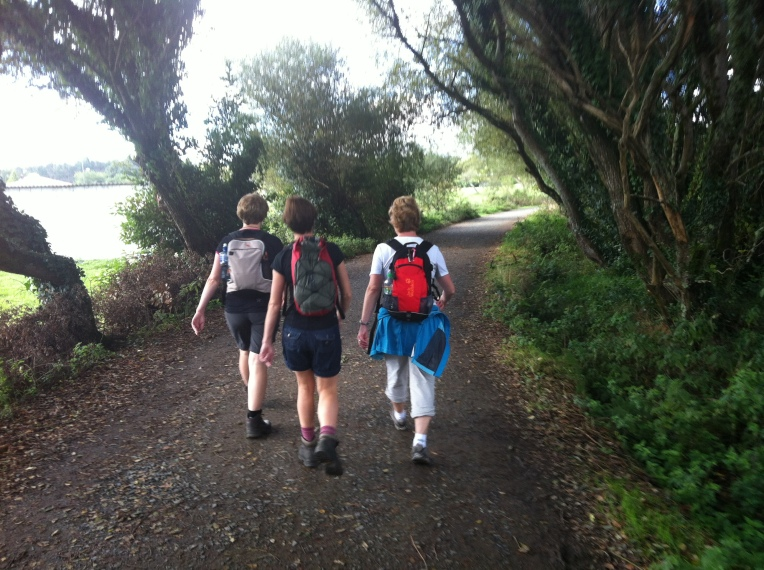 Three more hikers with day-packs, we're seeing a lot more of them!