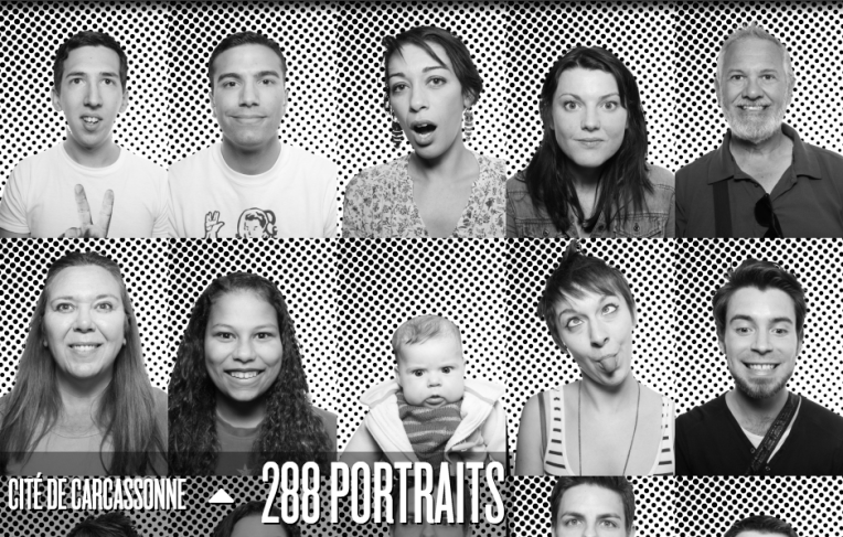 Some of the 288 portraits taken in Carcassonne, including ours.