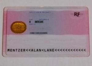 Reverse of Carte de Séjour
