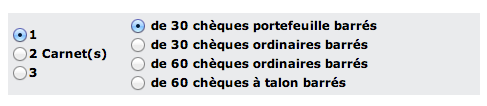 Cheques Options