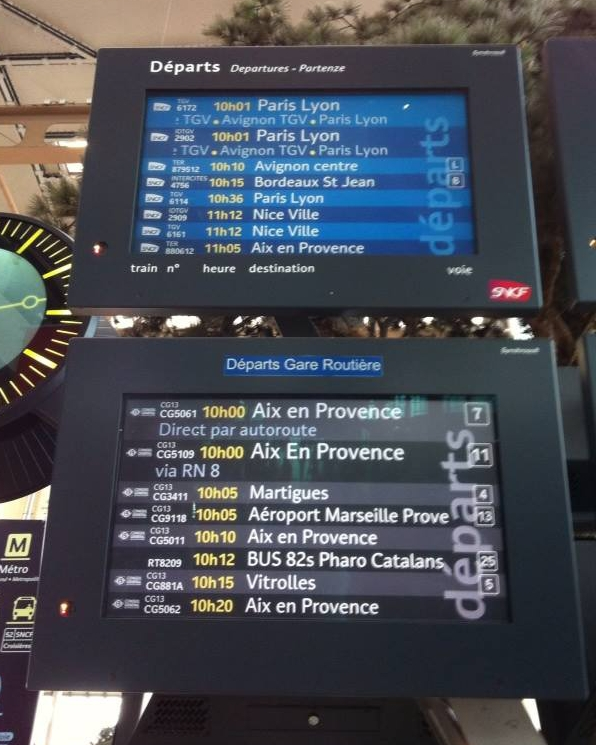 SNCF Departure Board