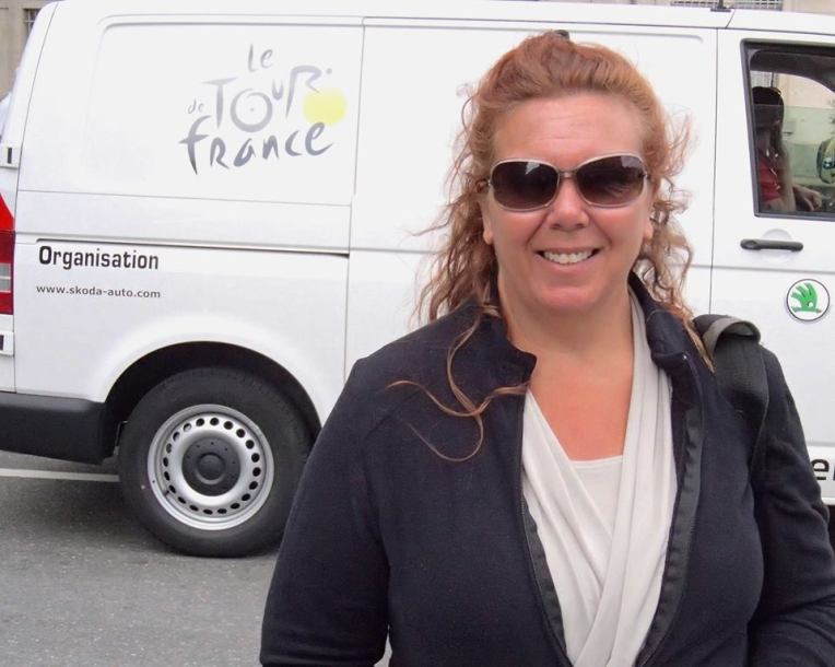 Tracy at the Tour de France 2014