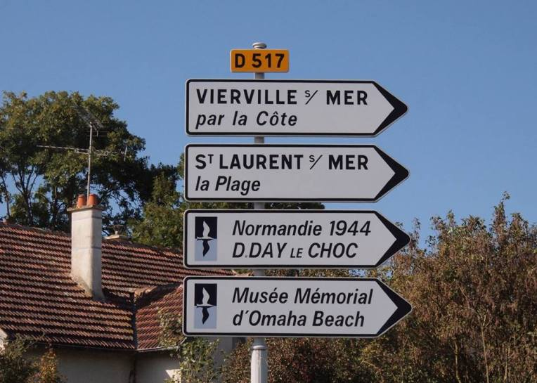 Signs to Omaha Beach